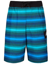 adidas Big Boys Energy Striped Volley Swimsuit