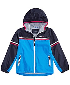 London Fog Toddler & Little Boys Striped Colorblocked Hooded Jacket