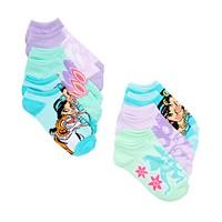Macys deals on 6 Pack Disney Little Girls Aladdin No-Show Socks