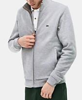 b85aef57410c Lacoste Men s Brushed Piqué Fleece Jacket
