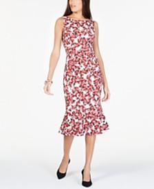 Alfani Curvy-Fit Printed Mermaid Dress, Created for Macy's