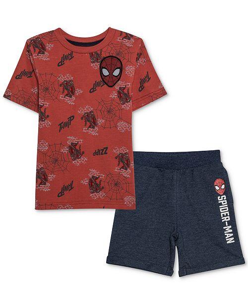 e29d69a3 Marvel Toddler Spider-Man Boys T-Shirt & Shorts Set & Reviews - Sets ...