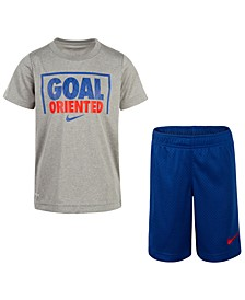 Toddler Boys 2-Pc. Goal-Print T-Shirt & Shorts Set