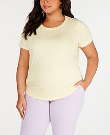 Bar III Plus Size Crewneck T-Shirt, Created for Macy's