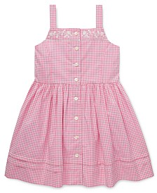 Polo Ralph Lauren Little Girls Gingham Cotton Dress