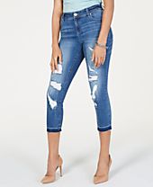 I.N.C. Curvy INCEssentials Ripped Cropped Skinny Jeans, Created for Macy's