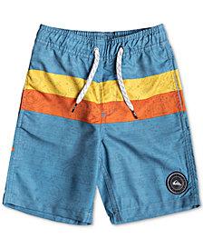 "Quiksilver Little Boys Mystery Bus Stripe Graphic 14"" Board Shorts"