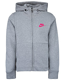Nike Little Girls Full-Zip Logo Hoodie