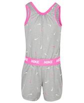 02714bd922c7 Nike Little Girls Swooshfetti Romper