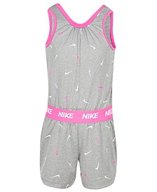 Nike Little Girls Swooshfetti Romper