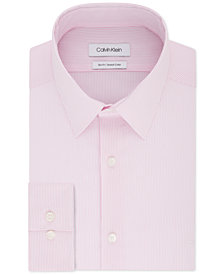 Calvin Klein Men's Slim-Fit Stretch Collar Stripe Dress Shirt