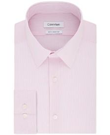 Calvin Klein Men's Slim-Fit Stretch Collar Stripe Dress Shirt, Online Exclusive Created for Macy's