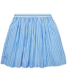 Polo Ralph Lauren Big Girls Striped Cotton Skirt