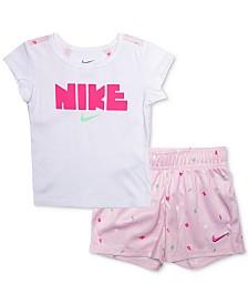 Nike Little Girls 2-Pc. Graphic T-Shirt & Shorts Set