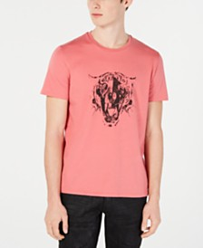 Just Cavalli Men's Tiger Skull Logo Graphic T-Shirt