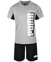 d89b85327cb5 Puma Little Boys 2-Pc. Logo-Print T-Shirt   Shorts Set