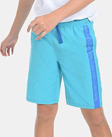 Calvin Klein Big Boys Logo Stripe Volley Swimsuit