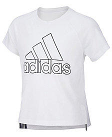 adidas Toddler Girls Logo-Print T-Shirt
