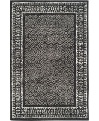 Adirondack Black and Silver 4' x 6' Area Rug