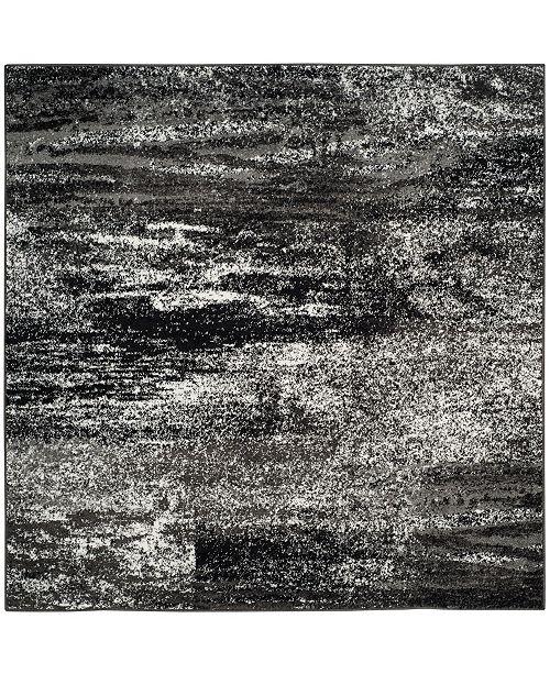 Safavieh Adirondack Silver and Black 6' x 6' Square Area Rug