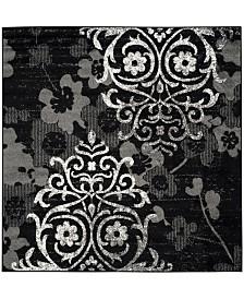 Safavieh Adirondack Black and Silver 6' x 6' Square Area Rug
