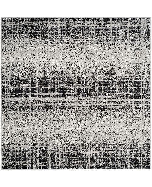 Safavieh Adirondack Silver and Black 6' x 6' Square Area Rug