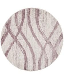 Safavieh Adirondack Cream and Purple 6' x 6' Round Area Rug
