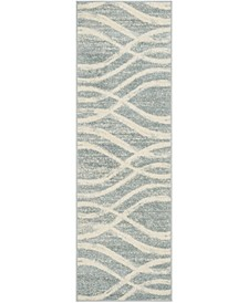 "Adirondack Cream and Slate 2'6"" x 8' Runner Area Rug"