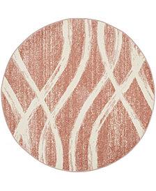 Safavieh Adirondack Rose and Cream 6' x 6' Round Area Rug