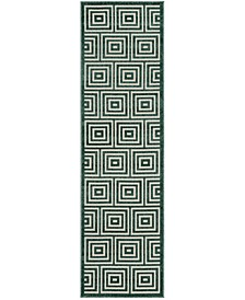 """Cottage Cream and Turquoise 2'3"""" x 8' Runner Area Rug"""