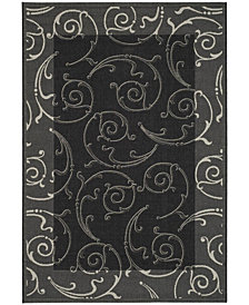 "Safavieh Courtyard Black and Sand 6'7"" x 9'6"" Area Rug"