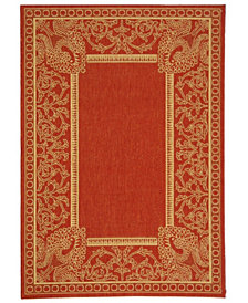 """Safavieh Courtyard Red and Natural 4' x 5'7"""" Area Rug"""
