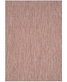 "Safavieh Courtyard Red and Beige 4' x 5'7"" Sisal Weave Area Rug"