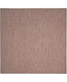 "Safavieh Courtyard Rust and Light Gray 6'7"" x 6'7"" Sisal Weave Square Area Rug"