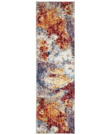 "Gypsy Rust and Ivory 2'3"" x 8' Runner Area Rug"