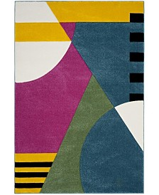 "Safavieh Hollywood Peacock Blue and Fuchsia 5'3"" x 7'6"" Area Rug"