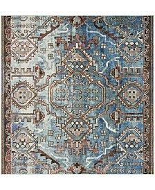 Safavieh Harmony Blue and Light Blue 7' x 7' Square Area Rug