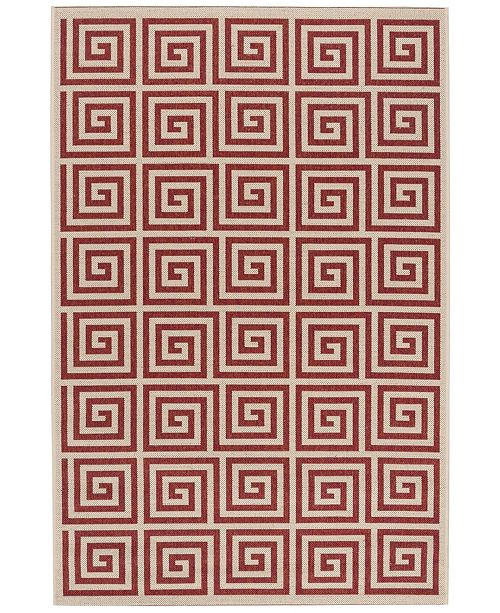 Safavieh Linden Red and Creme 4' x 6' Area Rug