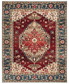 Kashan Blue and Red 8' x 10' Sisal Weave Area Rug