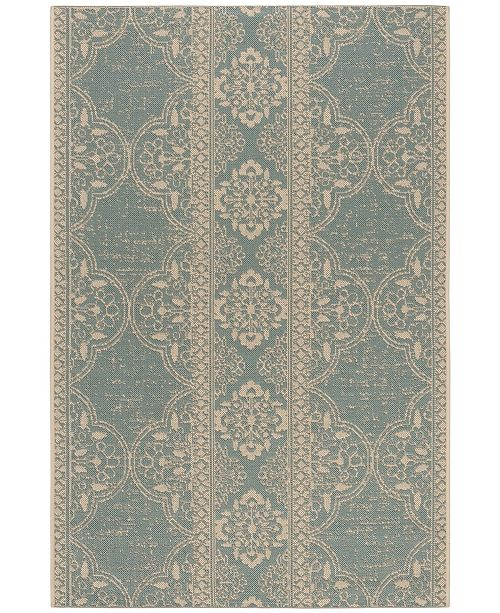Safavieh Linden Cream and Aqua 4' x 6' Area Rug