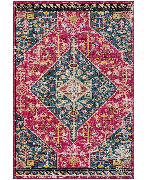 """Safavieh Madison Pink and Turquoise 5'3"""" x 7'6"""" Area Rug"""