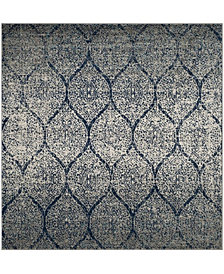 "Safavieh Madison Navy and Silver 6'7"" x 6'7"" Square Area Rug"