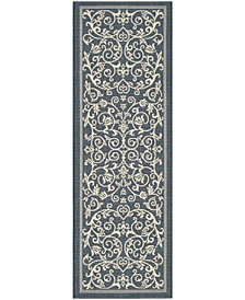 "Safavieh Madison Navy and Ivory 6'7"" x 6'7"" Square Area Rug"