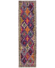 "Monaco Purple and Multi 2'2"" x 8' Runner Area Rug"