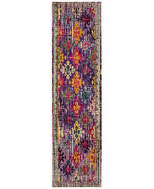 "Safavieh Monaco Purple and Multi 2'2"" x 8' Area Rug"