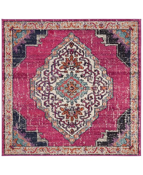 Safavieh Monaco Pink and Multi 5' x 5' Square Area Rug