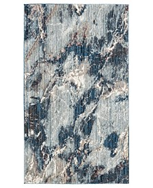 Monray Blue and Ivory 3' x 5' Area Rug