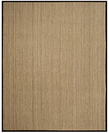 Natural Fiber Natural and Dark Brown 8' x 10' Sisal Weave Area Rug