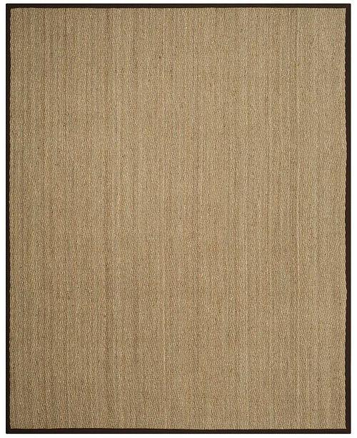 Safavieh Natural Fiber Natural and Dark Brown 8' x 10' Sisal Weave Area Rug
