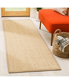 "Safavieh Natural Fiber Ivory and Beige 2'6"" x 8' Sisal Weave Runner Area Rug"
